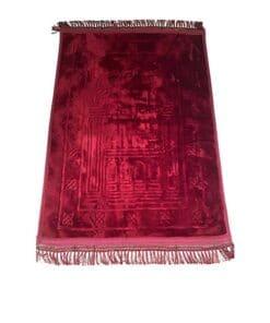 Tapis de prière épais avec motif rouge