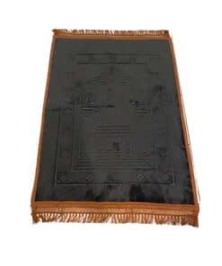 Tapis de prière épais motif noir marron