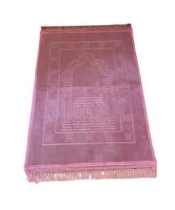 Tapis de prière épais motif rose bonbon