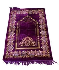 Tapis de prière brodé Purple