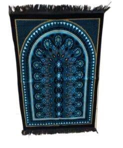 Tapis de prière décoration noir bleu