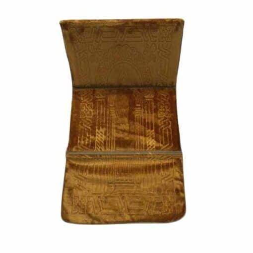 Tapis de prière pliable épais dorée avec dossier