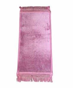 Tapis de prière enfant rose épais