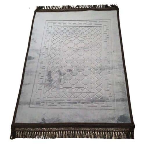 Tapis de prière épais avec motif gris