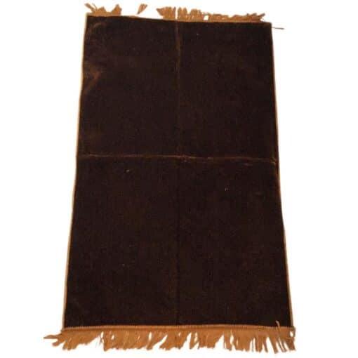 Tapis de prière uni épais turc marron claire
