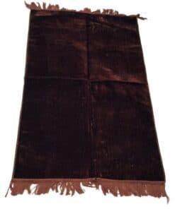 Tapis de prière uni épais turc marron