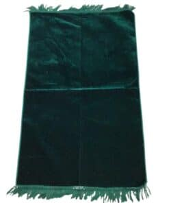 Tapis de prière uni épais turc vert sapin