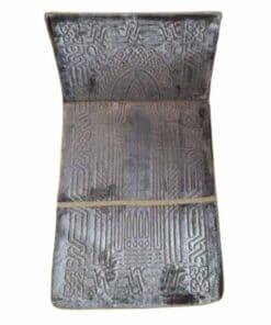 Tapis de prière pliable épais gris avec dossier