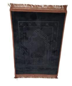 Tapis de prière épais avec motif velours noir