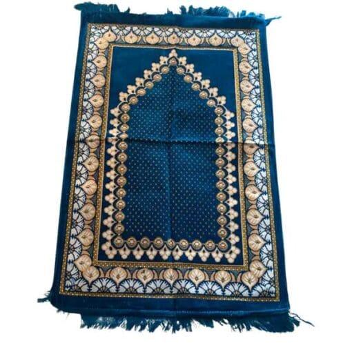 Tapis de prière or bleu