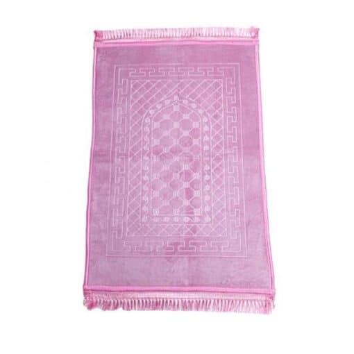 Tapis de prière épais avec motif rose