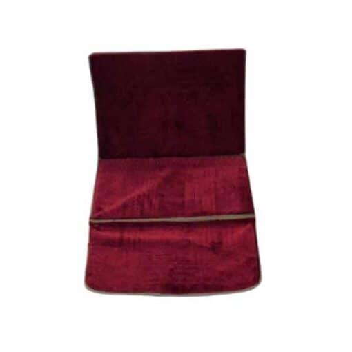 Tapis de prière pliable épais rouge avec dossier