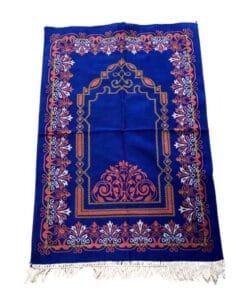 Tapis de prière rouge bleu à motif