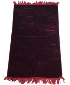 Tapis de prière uni épais turc rose foncé