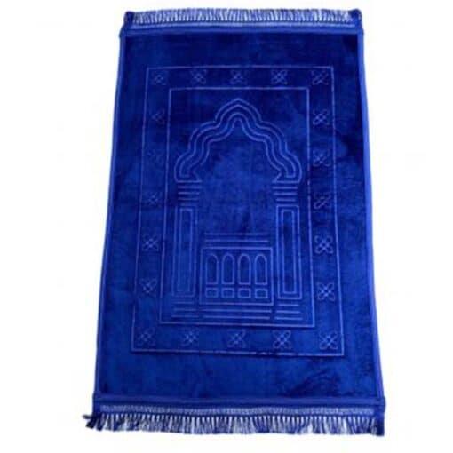 Tapis de prière épais avec motif bleu roi