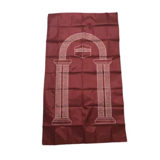 Tapis de prière de poche rouge