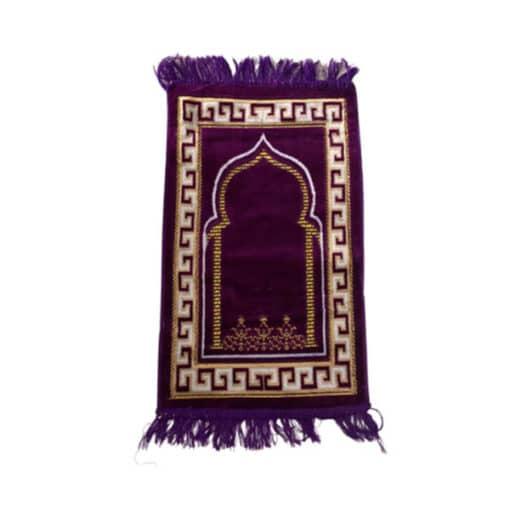 Tapis de prière mauve motif oriental