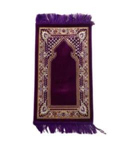 Tapis de prière enfant violet avec motif