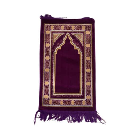 Tapis de prière enfant violet motif oriental