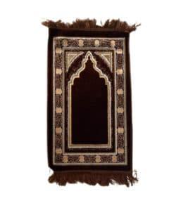 Tapis de prière enfant marron oriental