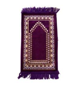 Tapis de prière enfant violet motif pointillé